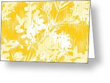 Botanical Silhouette Pattern Seamless Greeting Card