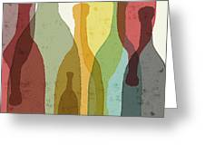 Bottles Of Wine, Whiskey, Tequila Greeting Card