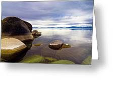Boulders At Sand Harbor Greeting Card