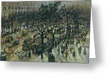 Boulevard Des Italiens - Afternoon, 1987 Greeting Card