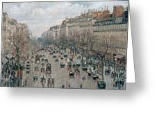 Boulevard Montmartre - Afternoon, Sunlight, 1897 Greeting Card