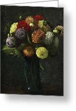 Bouquet Of Dahlias Greeting Card