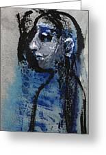 Boy In Blue Greeting Card