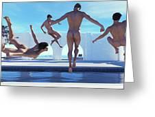 Boys Of Summer Pool Greeting Card