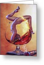 Brandy Girl Greeting Card