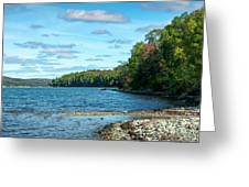 Bras D'or Lake, Cape Breton Nova Scotia, Canada Greeting Card