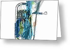 Brass Euphonium 4 Greeting Card