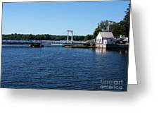 Brass Point Bridge On The Rideau Canal Ontario Greeting Card