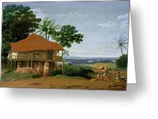 Brazilian Landscape With A Worker   S House  Greeting Card
