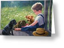 Breakfast Buddies Greeting Card