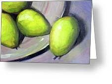 Breakfast Pears Greeting Card