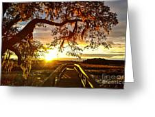 Breaking Sunset Greeting Card