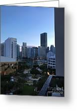 Brickell Key Miami Florida Greeting Card