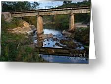 Bridge At Council Hill Station Greeting Card