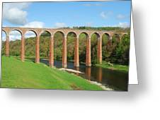 bridge over river Tweed near Melrose Greeting Card