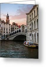 Bridges Of Venice - Rialto Greeting Card