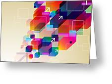Bright Abstract Background Greeting Card
