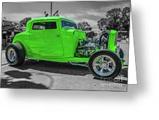 Bright Green Ford Greeting Card