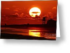 Bright Rota, Spain Sunset Greeting Card