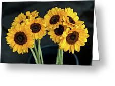 Bright Yellow Sunflowers Greeting Card