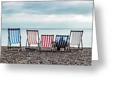 Brighton Beach Chairs Greeting Card