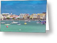 Brilliant Bermuda  Cityscape Greeting Card
