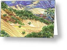 Briones From Mount Diablo Foothills Greeting Card by Judith Kunzle