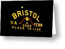 Bristol Sign And The Moon Greeting Card
