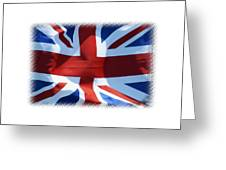 British Union Jack Flag T-shirt Greeting Card