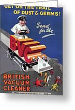British Vacuum Cleaner Vintage Advert 1910 Greeting Card
