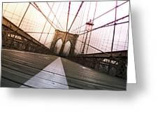 Brooklyn Bridge, New York City Greeting Card