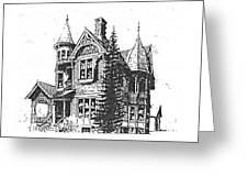 Brooks Hotel, Corvallis, Montana Greeting Card