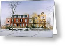 Broom Street Snow Greeting Card