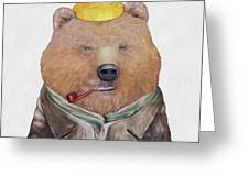 Brown Bear Greeting Card by Animal Crew