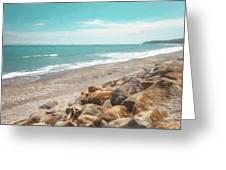 Bruce Bay New Zealand Painterly Greeting Card