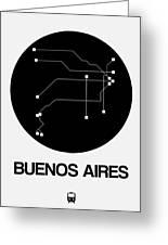 Buenos Aires Black Subway Map Greeting Card
