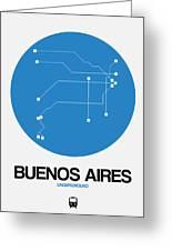Buenos Aires Blue Subway Map Greeting Card