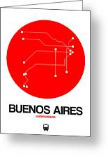 Buenos Aires Red Subway Map Greeting Card