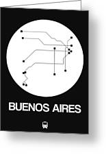 Buenos Aires White Subway Map Greeting Card