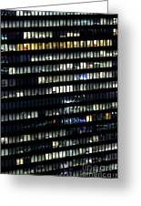 Building At Night In Tokyo Greeting Card