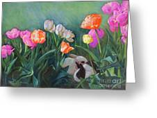 Bunnies In The Blooms Greeting Card
