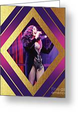 Burlesque Cher Diamond Greeting Card