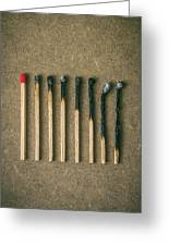 Burnt Matches Greeting Card