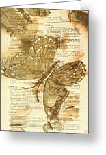 Butterfly Antiquities Greeting Card