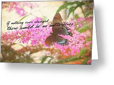 Butterfly Kisses Quote Greeting Card