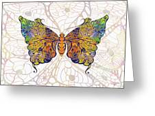 Butterfly Zen Meditation Abstract Digital Mixed Media Artwork By Omaste Witkowski Greeting Card by Omaste Witkowski