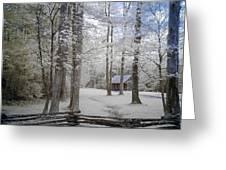 Cabin In The Smoky's II Greeting Card
