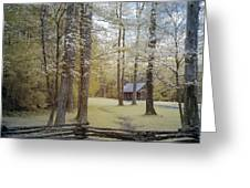Cabin In The Smoky's Greeting Card
