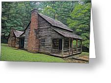 Cabin In The Woods - Fractals Greeting Card