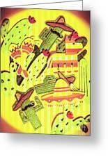 Cactus Carnival Greeting Card